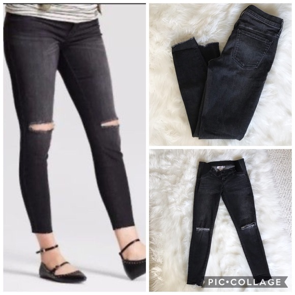 72d06d94be927 Isabel Maternity by Ingrid & Isabel Pants - Isabel Maternity Distressed Skinny  Jeans Jeggings